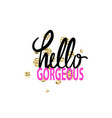hello gorgeous graffiti vector image vector image