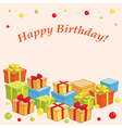 holiday background with gifts - happy birthday vector image vector image