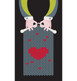 Knitted Love vector image