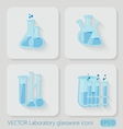 Laboratory chemical bottles glassware vector image