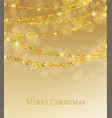 lights on golden background vector image vector image