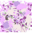 lilac beige green ink splashes background square vector image vector image