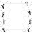 lily flower outline banner card border vector image vector image