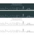malmo single line skyline banner vector image vector image