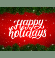 merry christmas background greeting card vector image