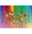mexican traditional textile embroidery card style vector image vector image