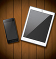 New realistic mobile phone smartphone and tablet vector image