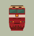 old soviet passenger train locomotive vector image