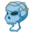 painful truth skull vector image