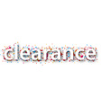 Paper clearance confetti sign vector image