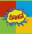 pop art bang logo vector image vector image