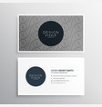 professional business card design in gray color vector image vector image