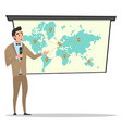 project presentation business characters vector image vector image
