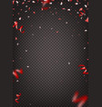 red confetti isolated on transparent background vector image vector image
