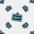 Rent icon sign Seamless pattern with geometric vector image vector image