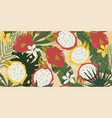seamless simple pattern tropical plants vector image