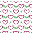 Seamless watercolor pattern with floral elements vector image vector image
