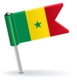 Senegal pin icon flag vector image vector image