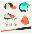 set baseball club icons design elements vector image
