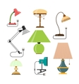 set home lamps house light design vector image