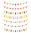 set of colorful garlands vector image vector image