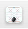 Square icon of ice hockey sport vector image vector image