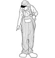 standing clown pointing vector image vector image