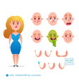 student woman emotion faces vector image vector image