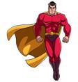 superhero flying on white vector image vector image