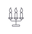 tasty candles line icon concept tasty candles vector image vector image