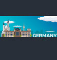travel banner to germany flat vector image