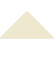 Triangular post stamp vector image vector image
