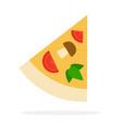 triangular slice pizza flat isolated vector image