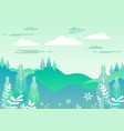 village landscape in trendy flat and linear style vector image