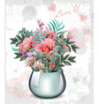 wedding bouquet vintage floral decor vector image