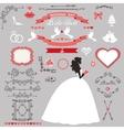 Wedding bridal shower decor set Bride invitation vector image vector image