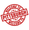 welcome to pittsburgh red stamp vector image vector image