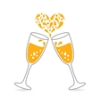 Wineglasses of Sparkling Champagne for Happy vector image vector image