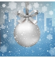winter city background with ball vector image vector image