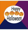 with pumpkins halloween halloween vector image