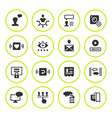 set round icons of social network vector image