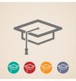 graduation cap icons vector image