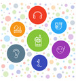 7 listen icons vector image vector image