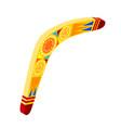 australian wooden boomerang cartoon object on a vector image vector image