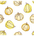 autumn doodle seamless pattern with pumpkins vector image vector image