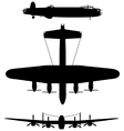 Avro Lancaster bomber vector image vector image