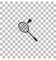 badminton icon flat vector image vector image