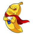 banana superhero mascot vector image vector image