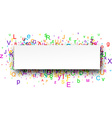 Banner with letters vector image vector image