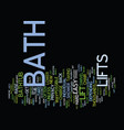 bath safety text background word cloud concept vector image vector image